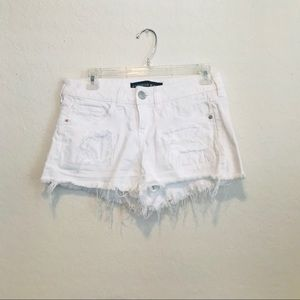 Express Distressed cut off shorts 0